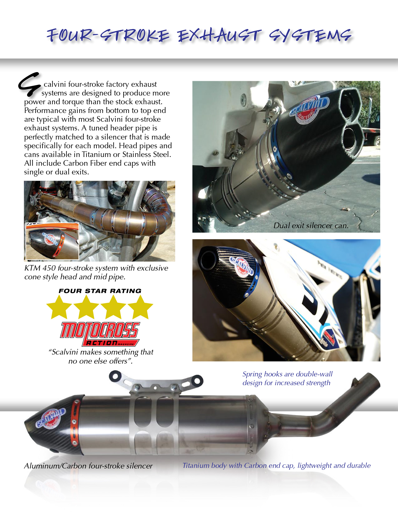 Scalvini Pipes USA - Four-Stroke Exhaust Systems